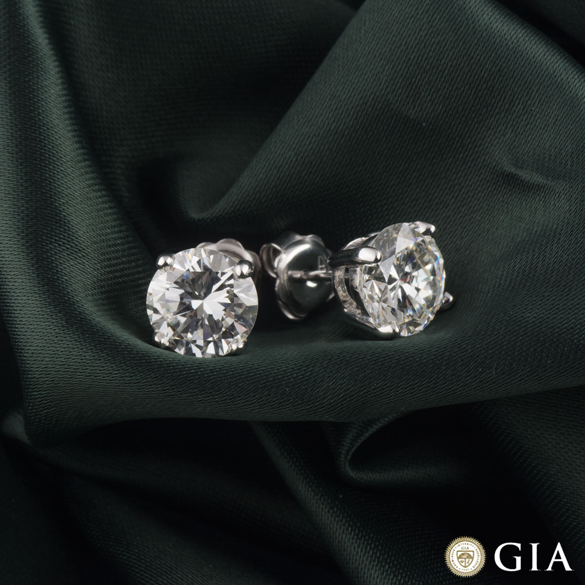 White Gold Diamond Earrings 5.12ct H-I/VVS2-VS1